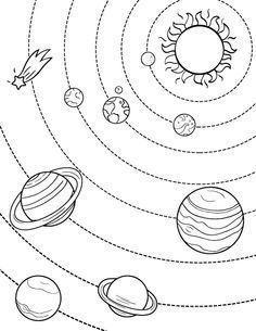 Printable Solar System Coloring Page Free Pdf Download At Http Coloringcafe Com Color Solar System Coloring Pages Planet Coloring Pages Space Coloring Pages