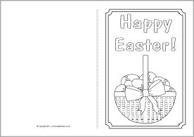 Easter Card Colouring Templates Sb4368 Sparklebox Printable Greeting Cards Easter Cards Cards