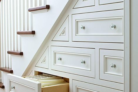under stair storage ideas (great idea, but probably hard to do)