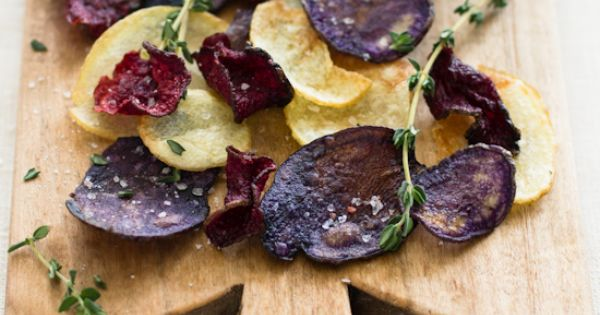 Beet and potato chips with thyme rock Food and Drink Recipe Drink