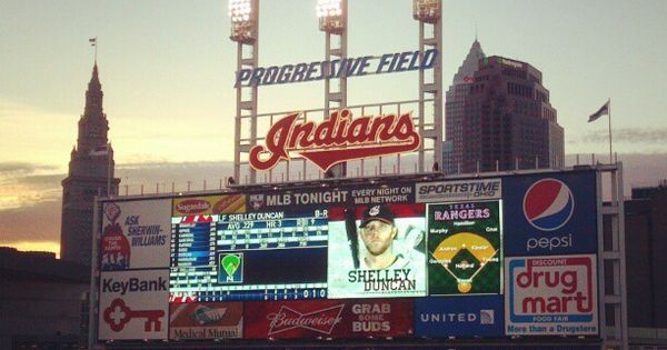 An early Spring Indians game at Progressive Field