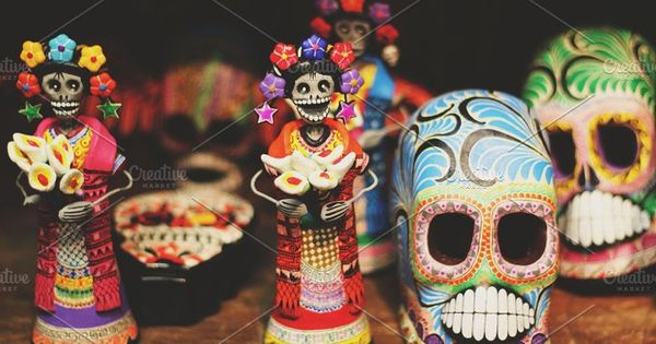 Day of the Dead and Sugar Skull ornaments