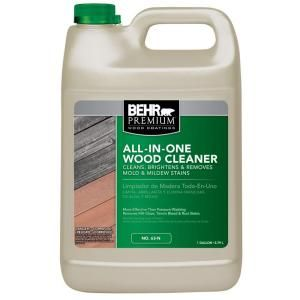 Behr Premium 1 Gal All In One Wood Cleaner 06301n At The Home