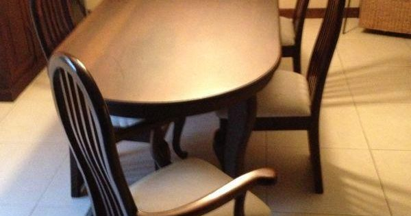 Usado comedor de cedro con 6 sillas con espacio parra 8 for Comedor 6 sillas precio