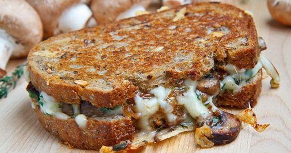 Mushroom Grilled Cheese Sandwich Aka The Mushroom Melt Recipe Food Recipes Sandwiches