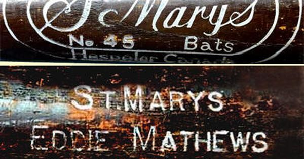 St Marys Wood Specialty Co Was Founded In 1908 In The Town Of St Mary S Canada In 1933 St Mary S Was Pu Hockey Equipment Baseball Memorabilia Baseball Bat