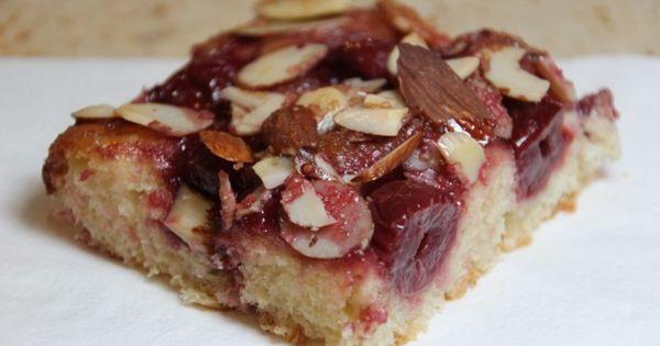 Focaccia, Almonds and Cherries on Pinterest