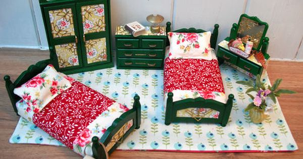 Sylvanian families retro bedroom house furniture cath for Cath kidston bedroom designs