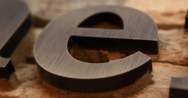 Order Bronze Letters Now Oil Rubbed Brushed Polished Impact Signs Metal Signage Shop Signage Signage Design