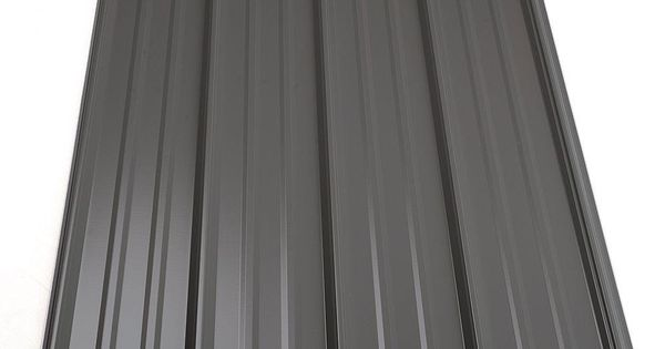 3 Ft 6 In Classic Rib Steel Roof Panel In Charcoal