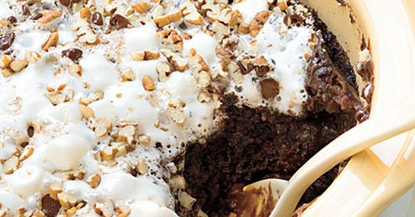 Crockpot Rocky Road Chocolate Cake. This blog has lots of great crockpot