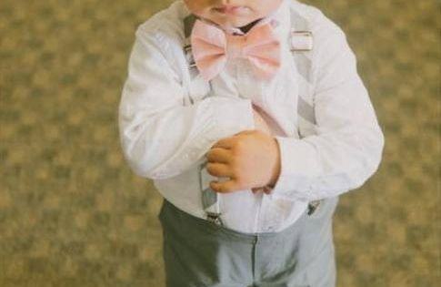 Cotton Ring Bearer Outfit; Ring Bearer Bow Tie, Ring Bearer Suspenders, Newsboy
