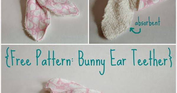 how to make bunny ear teether