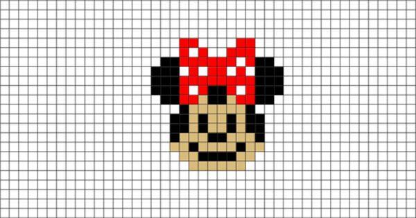 Minnie Mouse Pixel Art Pixel Art Pixel Art Design Lego Art
