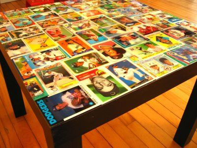 Baseball Card Collage Table Dreamin Baseball Baseball Cards