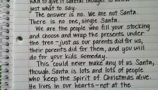 This is an amazing way to explain Santa to a little kid.
