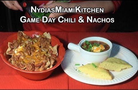 Game Day Chili & Nachos | RECETAS DE COMIDA | Pinterest | Chili Nachos ...