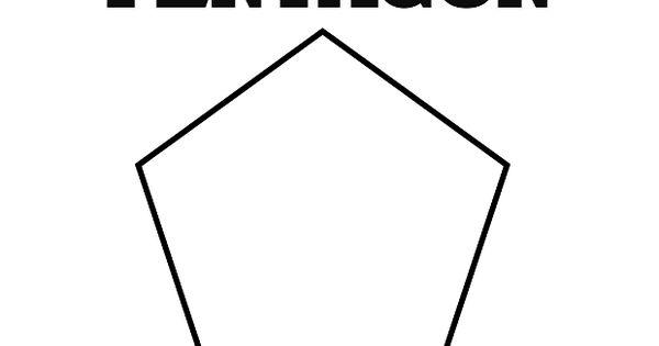 Printable Pentagon Shape