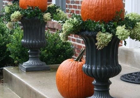 Pumpkin Topiaries for front step