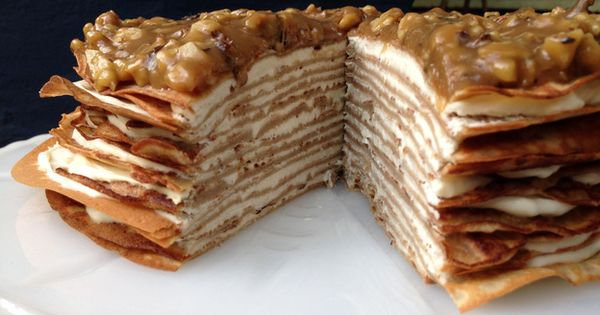 Banana crepes, Crepe cake and Butterscotch recipe on Pinterest