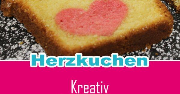Der Kuchen Im Kuchen Ruhrteig Mit Lebensmittelfarbe Rot Farben Aus Dem Gebackenen Und Ausgekuhlten Kuchen Herz Lebensmittel Essen Lebensmittel Zuckerschrift
