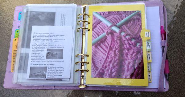 i u0026 39 m a filo freak  knitting binder using my a5 kikki k