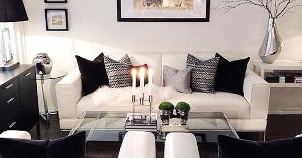 Witte woonkamers, Zwart en wit and Huiskamers on Pinterest