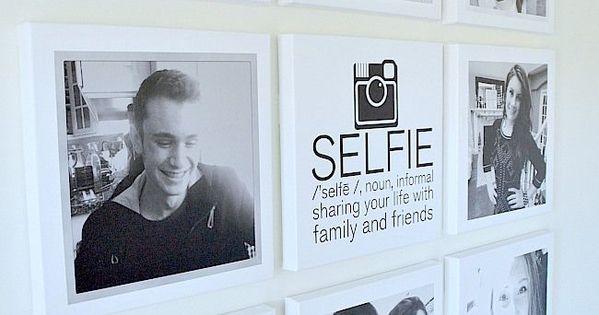 Selfie tween teen instagram hangout wall diy pinterest for Creative selfie wall