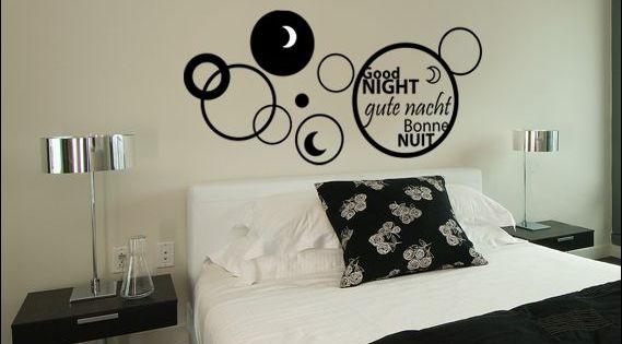 Autocollant d coratif pour t te de lit d co de chambre for Art et decoration chambre