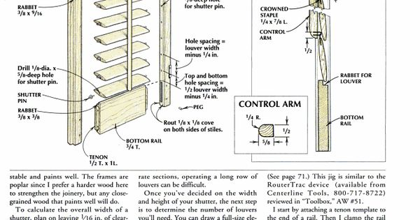 Free plans for plantation shutters american woodworker for Plantation shutter plans