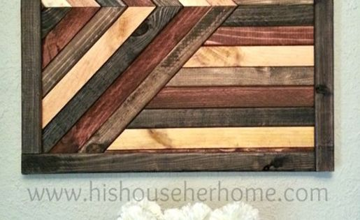 Geometric Stained Wood Wall D 233 Cor Pottery Barn Knock Off