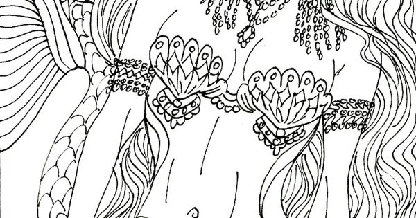 mermaid coloring pages pinterest - photo#45