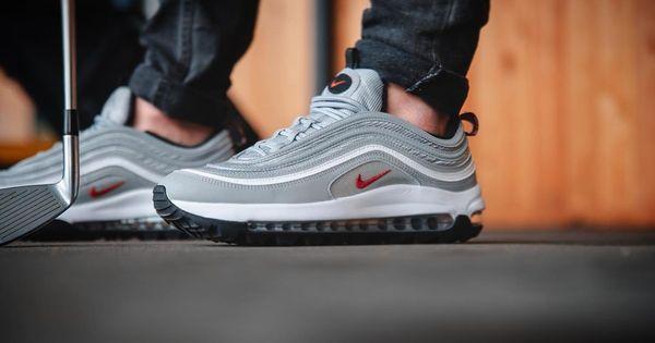 Nike Air Max 97 G Golf Shoes - Metallic Silver/White/Black ...