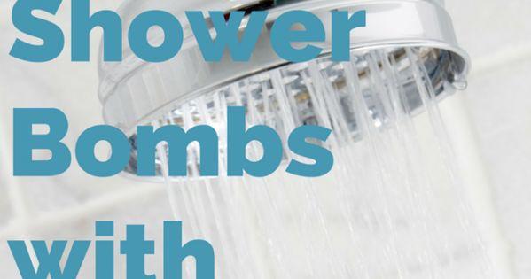 DIY Shower Bombs with Essential Oils. No time for a bath? Make