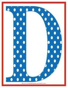 Polka Dot Letters - Uppercase D - Alphabet Letters   Polka dot ...