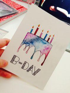 Diy Birthday Cards Ideas Watercolor Birthday Cards Cool