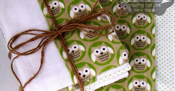 Easy Sewing Project- Burp Cloths and Flannel Blanket - Great Baby Shower
