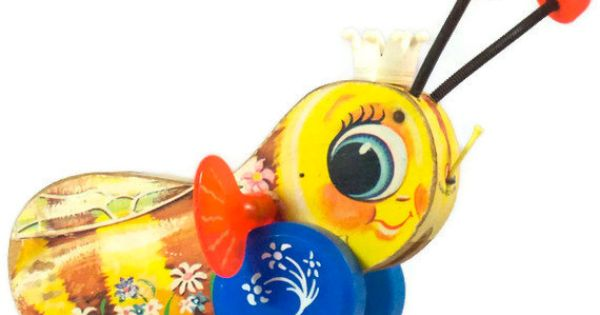 Vintage Fisher Price Queen Buzzy Bee Pull Toy by ladylindysvintage, $20.00