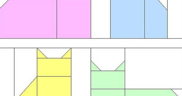 bloco com gatos que podem ser aplicados em patchwork. cat block pattern