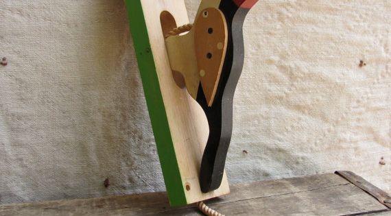 Vintage C 1960s Woodpecker Door Knocker Room For More