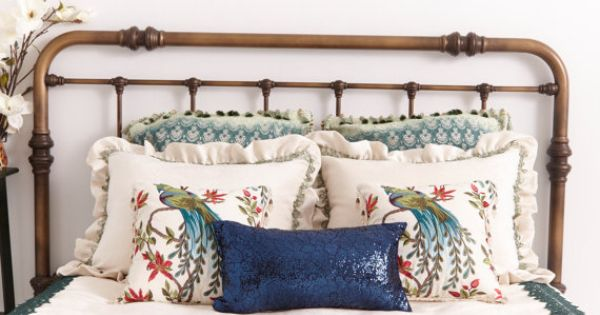 Decorative Bed Pillows Pinterest : BEDDING DECOR . Blue Sequin Accent Pillow.Gorgeous Oblong Decorative Pillow .Throw PIllow with ...