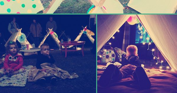 Fun Idea for Sleepover or backyard movie night.