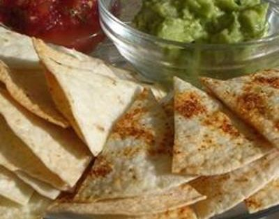 Baked Tortilla Chips Allrecipes.com I plan to use whole wheat tortillas for