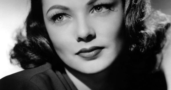 Actrice am ricaine charmante gene tierney noir et for Coupe cheveux burlesque
