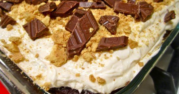 Smore's cake: for Life Group dessert | Yummy | Pinterest ...