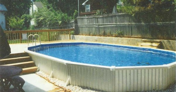 Above ground pools clearance aquasport 52 w extruded for Above ground pool siding ideas