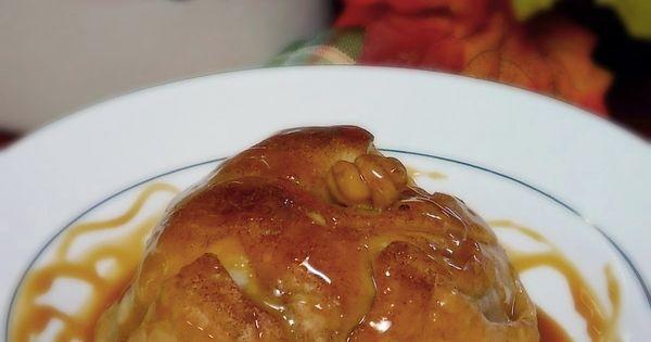 Apple Dumplings with Salted Caramel Rum Sauce #SundaySupper | Recipe ...