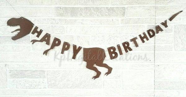 Dinosaur birthday banner Dinosaur banner by ...