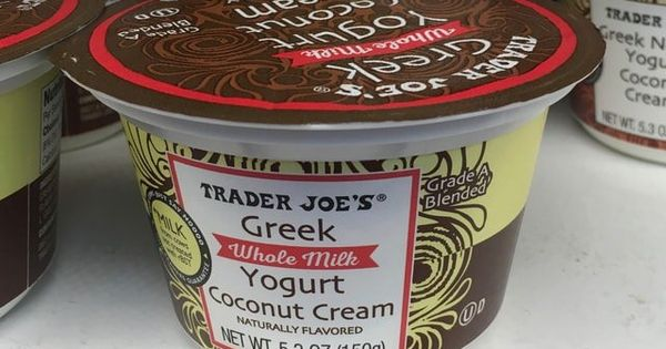Trader Joe S Coconut Cream Greek Whole Milk Yogurt Trader Joes Coconut Cream Yogurt Coconut Cream