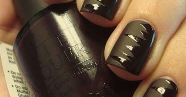 matte black -love matte nail polish
